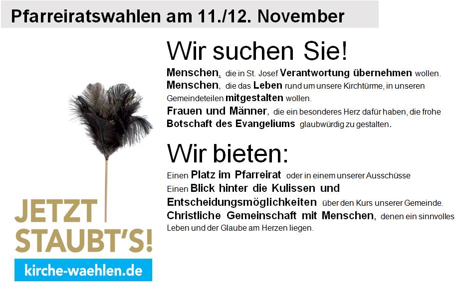 Pfarreiratswahlen am 11./12. November